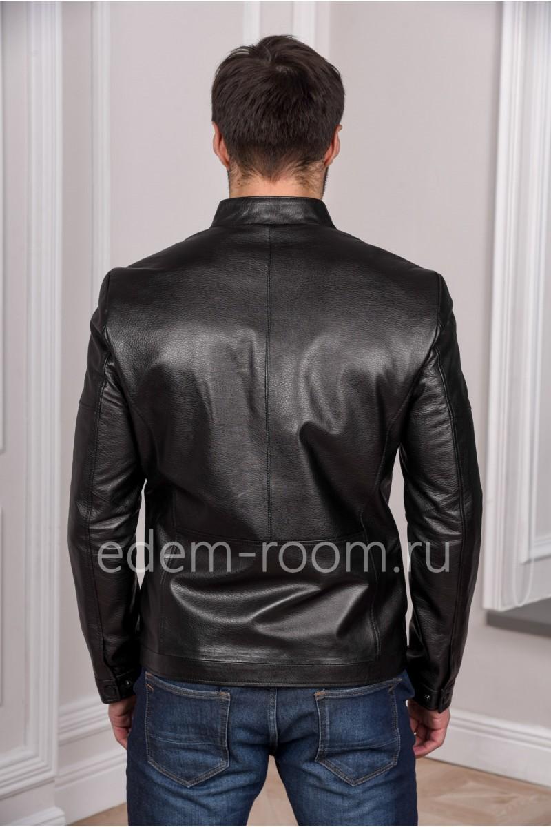 Современная мужская кожаная куртка из натуральной кожи легкая