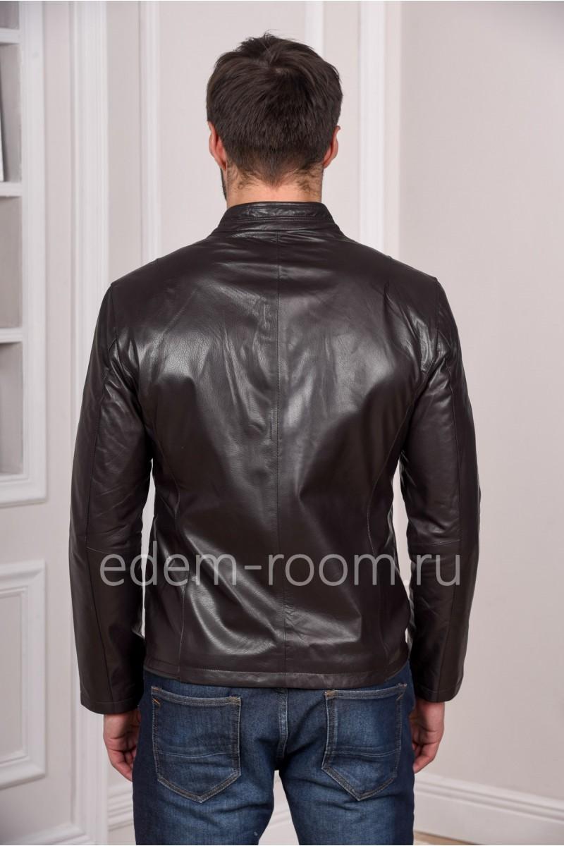 Мужская кожаная куртка из натуральной кожи весенняя
