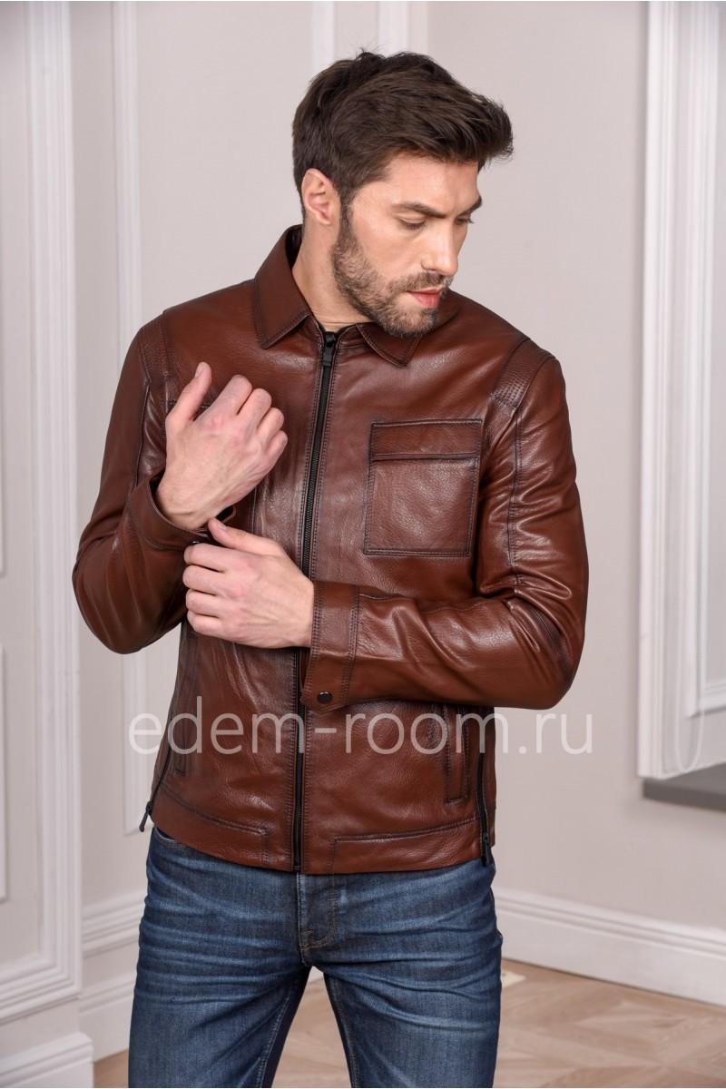 Весенняя кожаная куртка