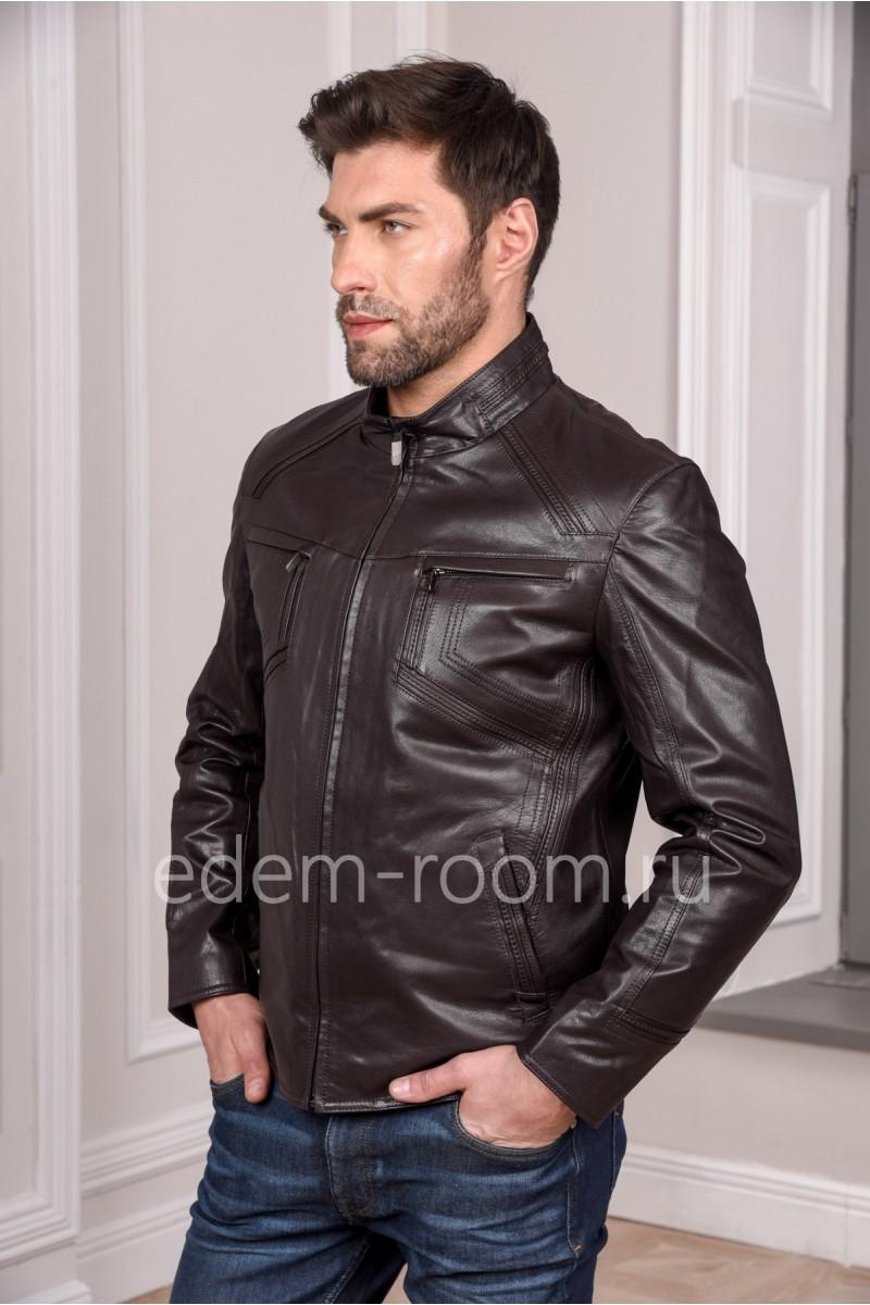 Мужская кожаная куртка из натуральной кожи, модная