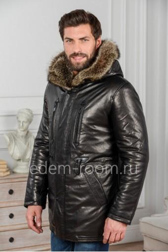 Стильная кожаная куртка для зимы