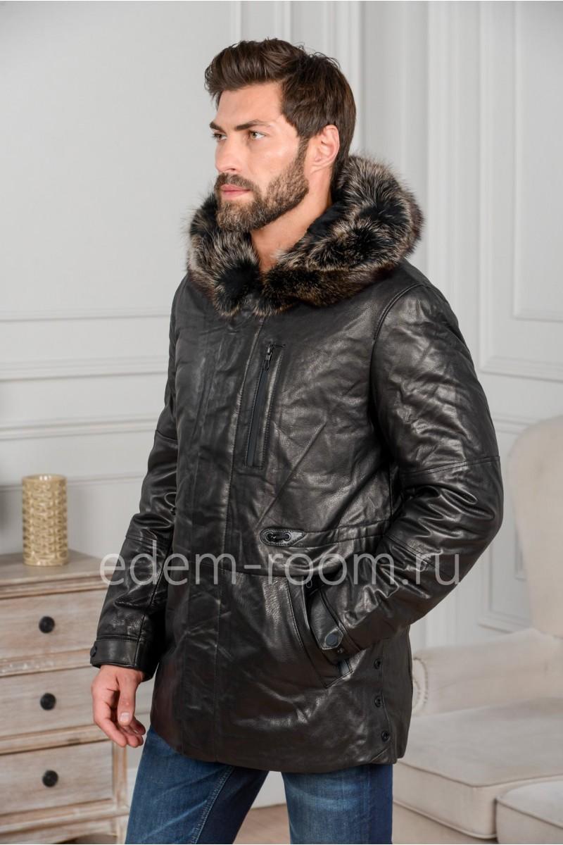 Классическая куртка из натуральной кожи