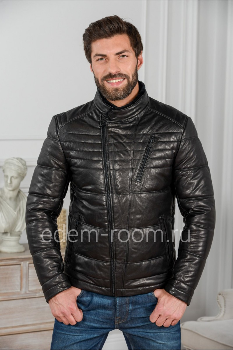 Зимняя кожаная куртка -  косуха