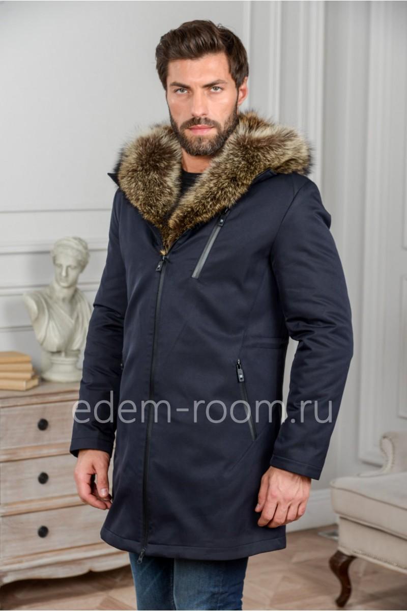 Мужская куртка- парка с мехом