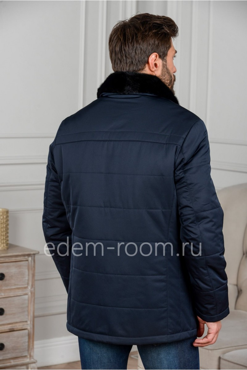 Зимняя куртка с норковым воротником