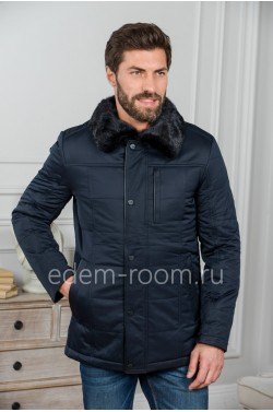 Мужская куртка с норковым воротником