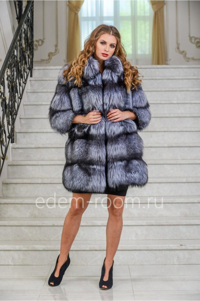 Модная шуба из чернобурки