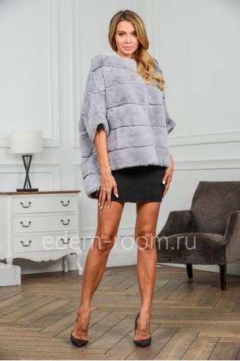 Меховая кофта - куртка из кролика