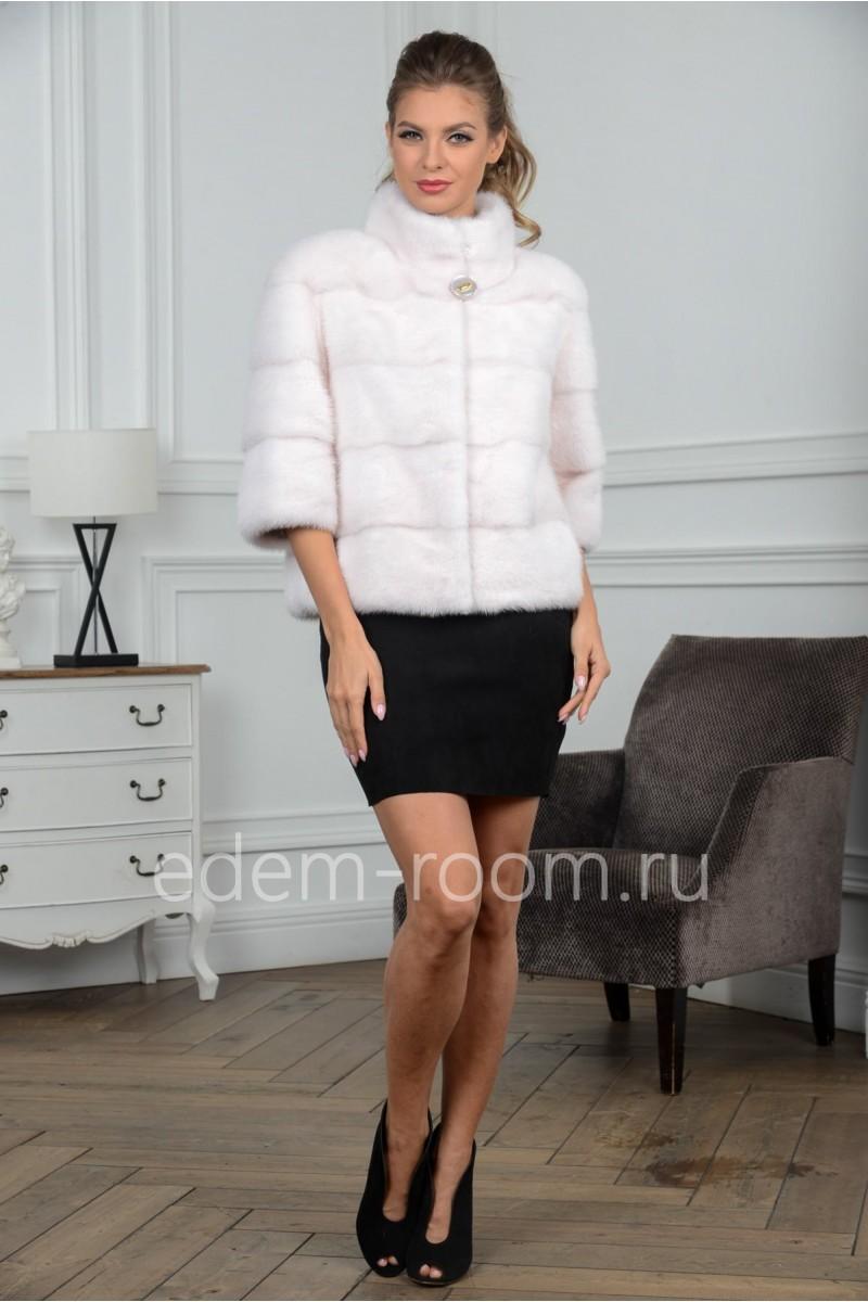 Светлая норковая куртка