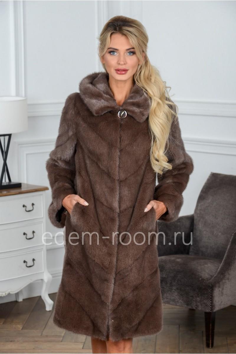 Женская норковая шуба - Зима 2019