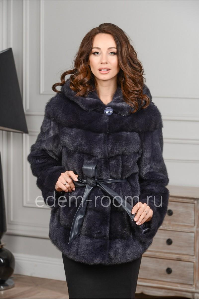 Норковая куртка - пончо