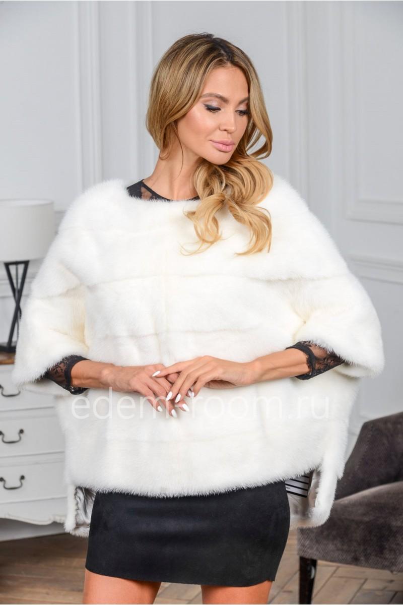 Белая норковая кофта