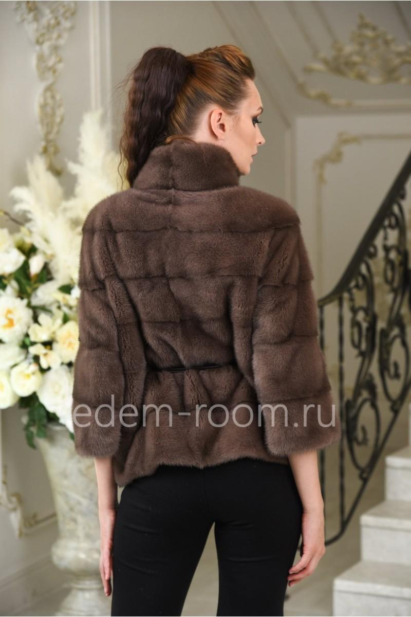 Куртка поперечная из меха норки