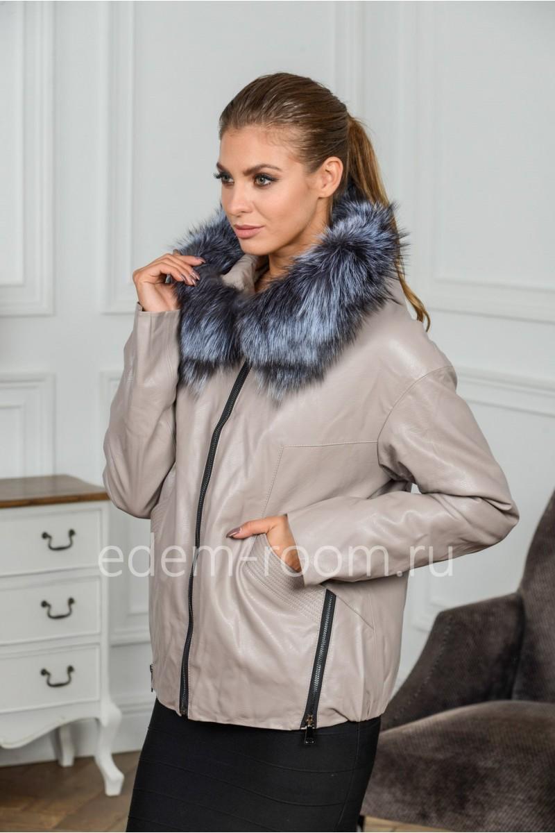 Куртка из эко-кожи для осени