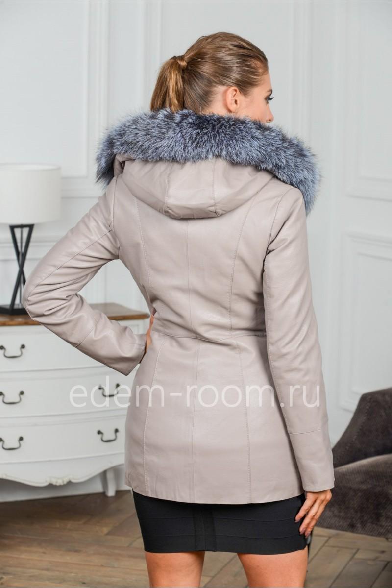 Межсезонная куртка из экокожи