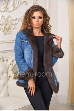 Куртка - джинсовая с мехом