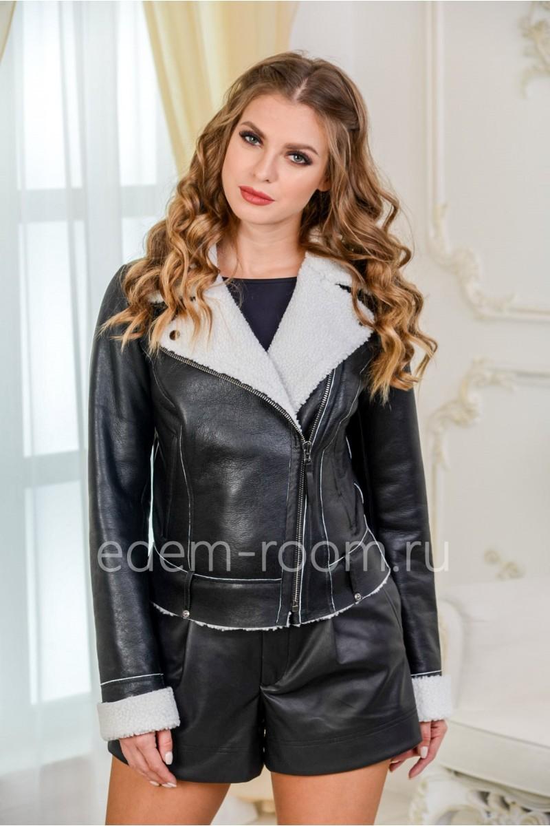 Укороченная дублёнка - куртка