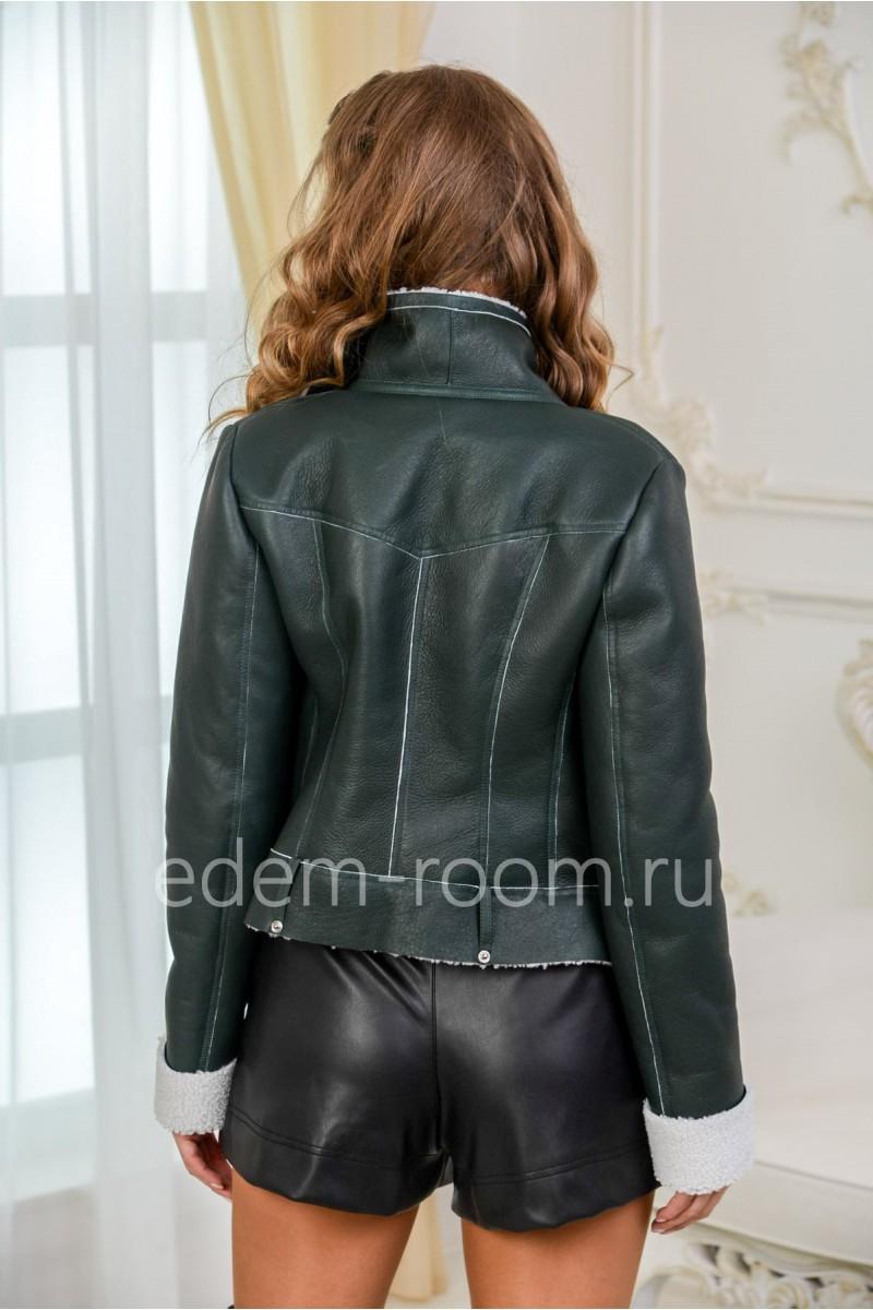 Короткая куртка - дублёнка