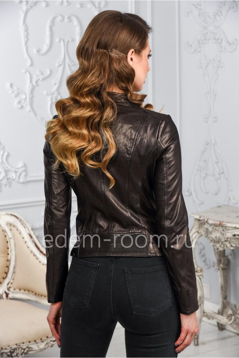 Женская кожаная куртка из натуральной кожи молодежная