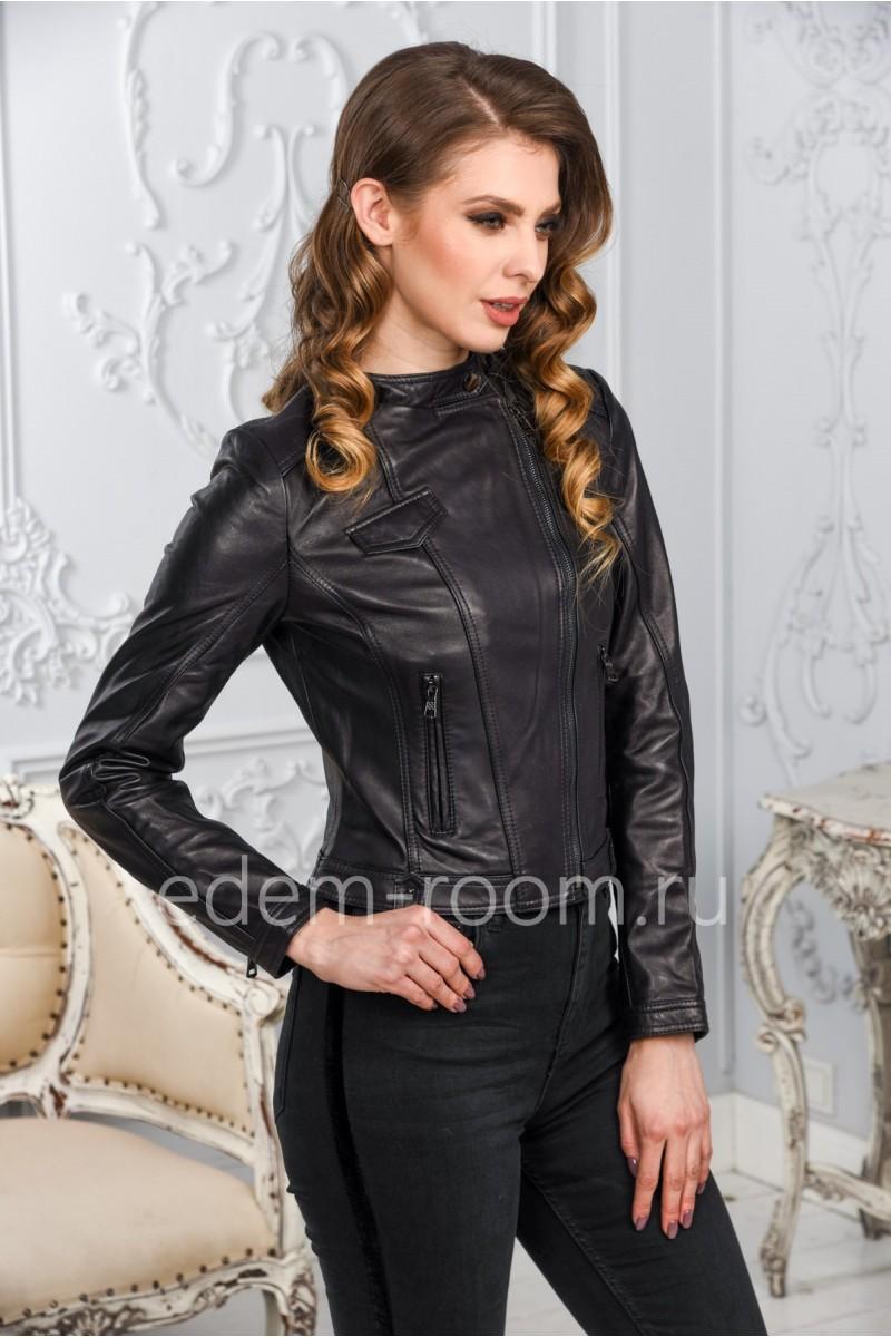 Женская кожаная куртка по низкой цене из натуральной кожи