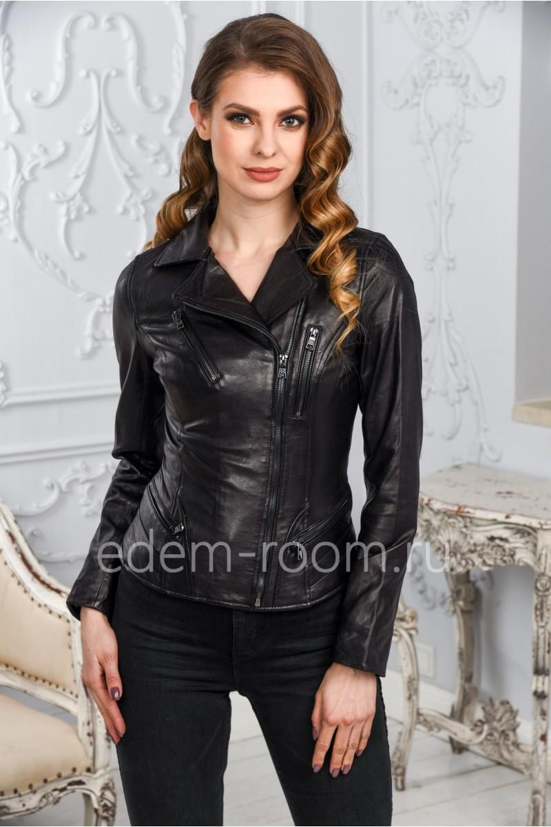 Женская кожаная куртка - косуха. Новинка
