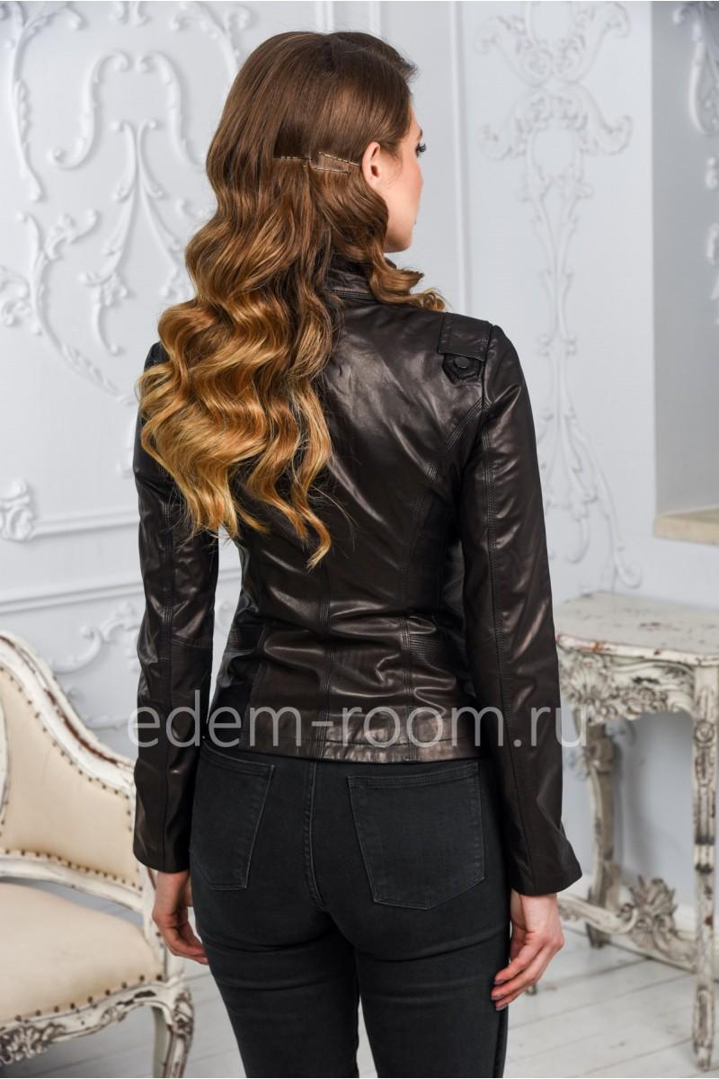 Женская кожаная куртка модная