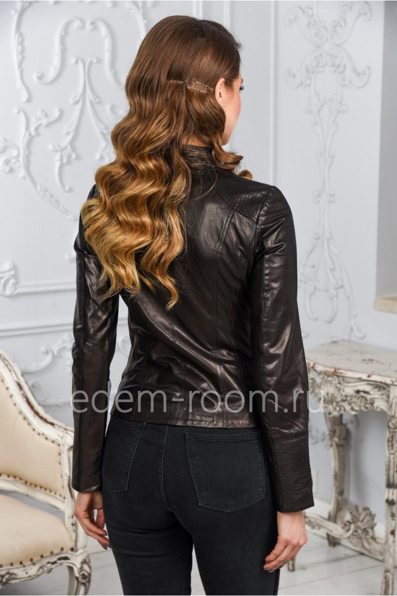 Женская кожаная куртка 2018 года