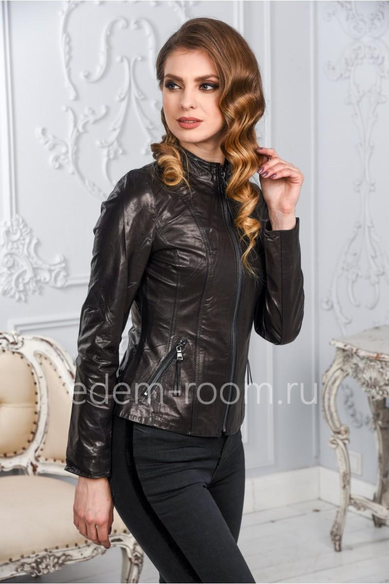 Женская кожаная куртка из натуральной кожи. Новинка!