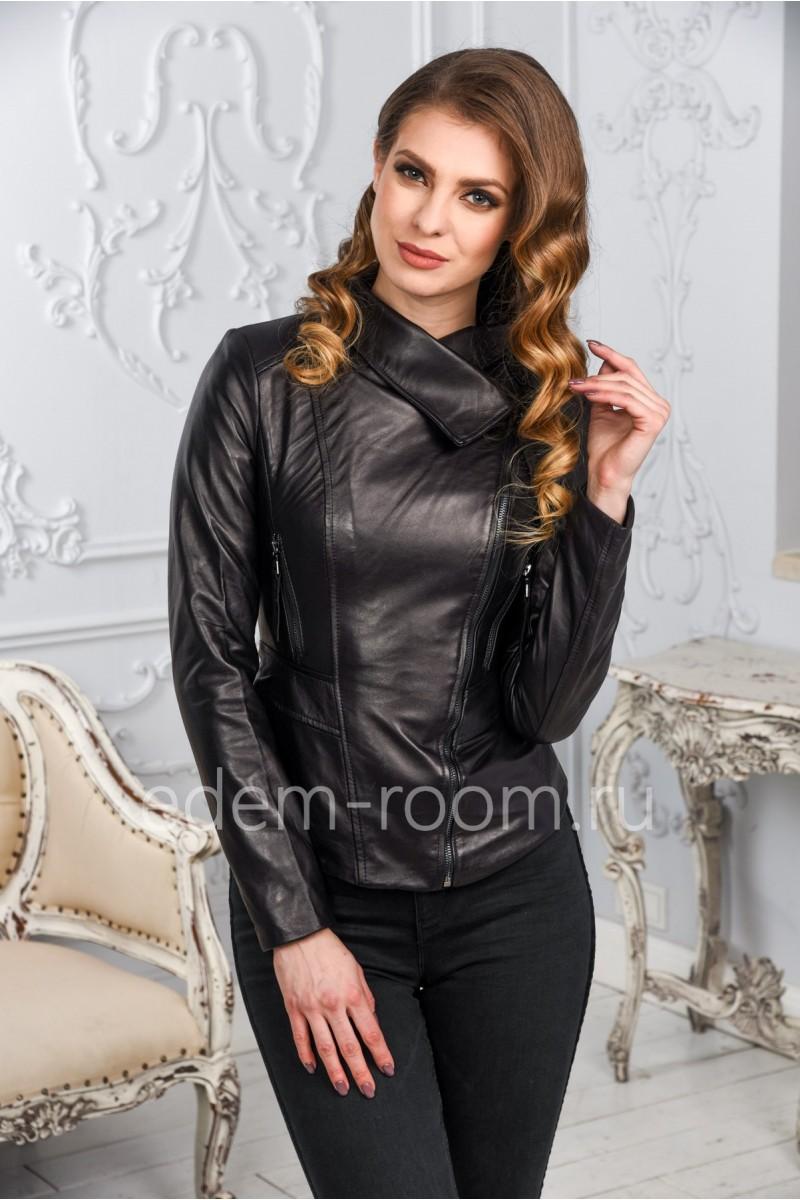 Уютная женская кожаная куртка из натуральной кожи