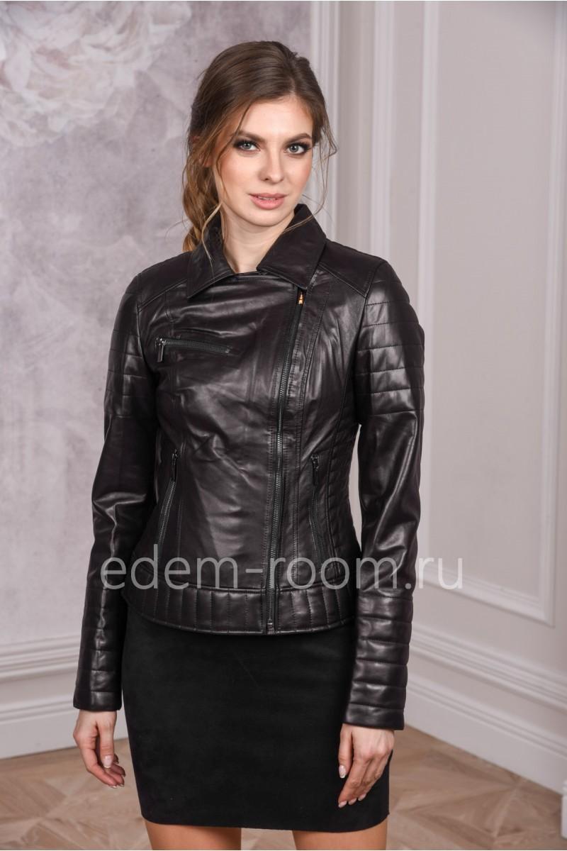 Удобная куртка из кожи