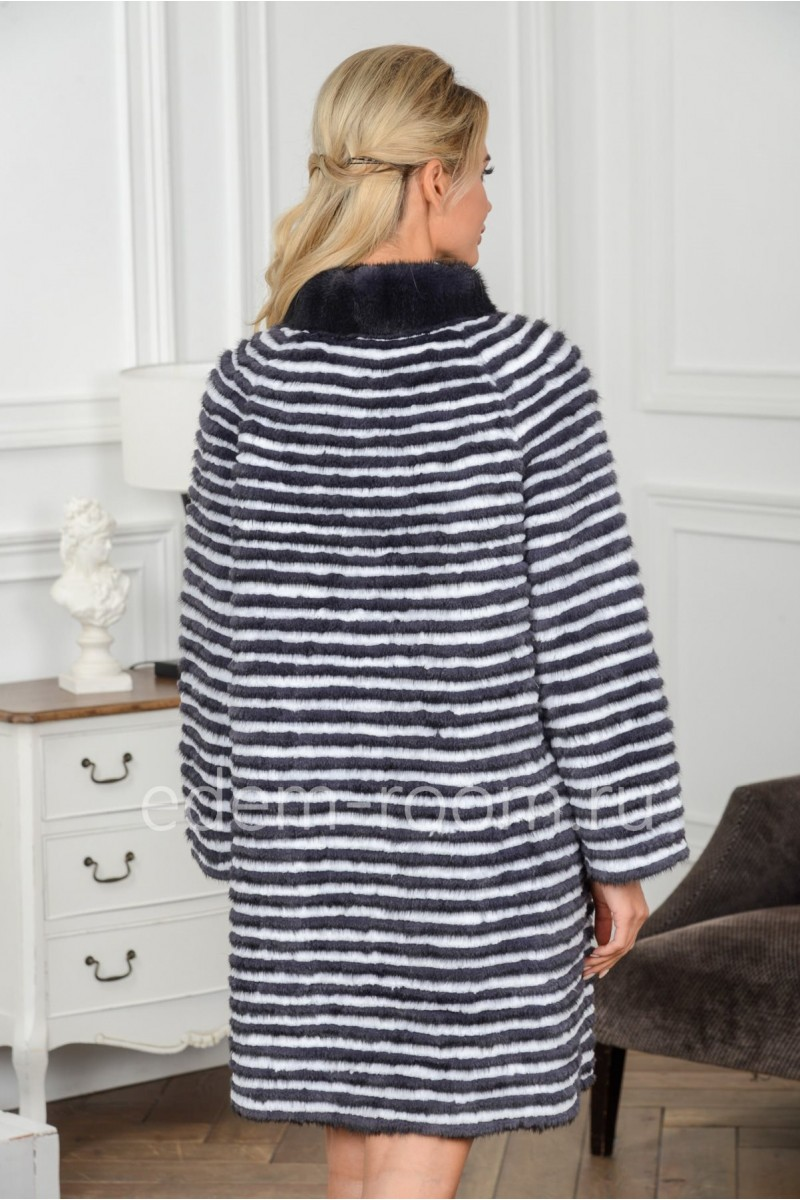 Норковое пальто на кашемире