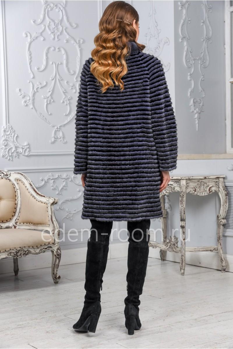 Женское норковое пальто на кашемире