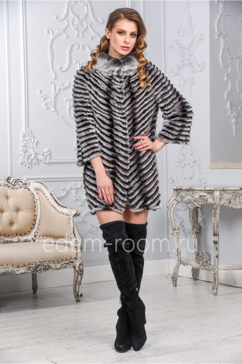 Пальто из кролика на кашемире