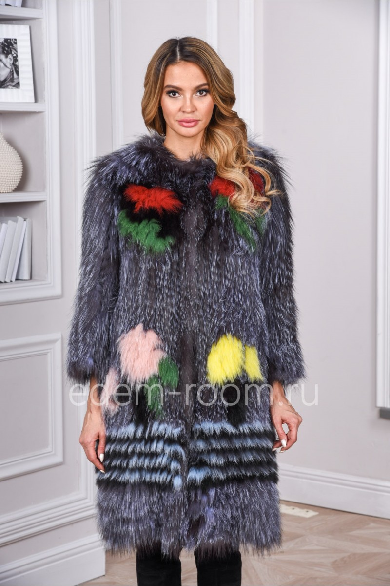 Меховое пальто на кашемире