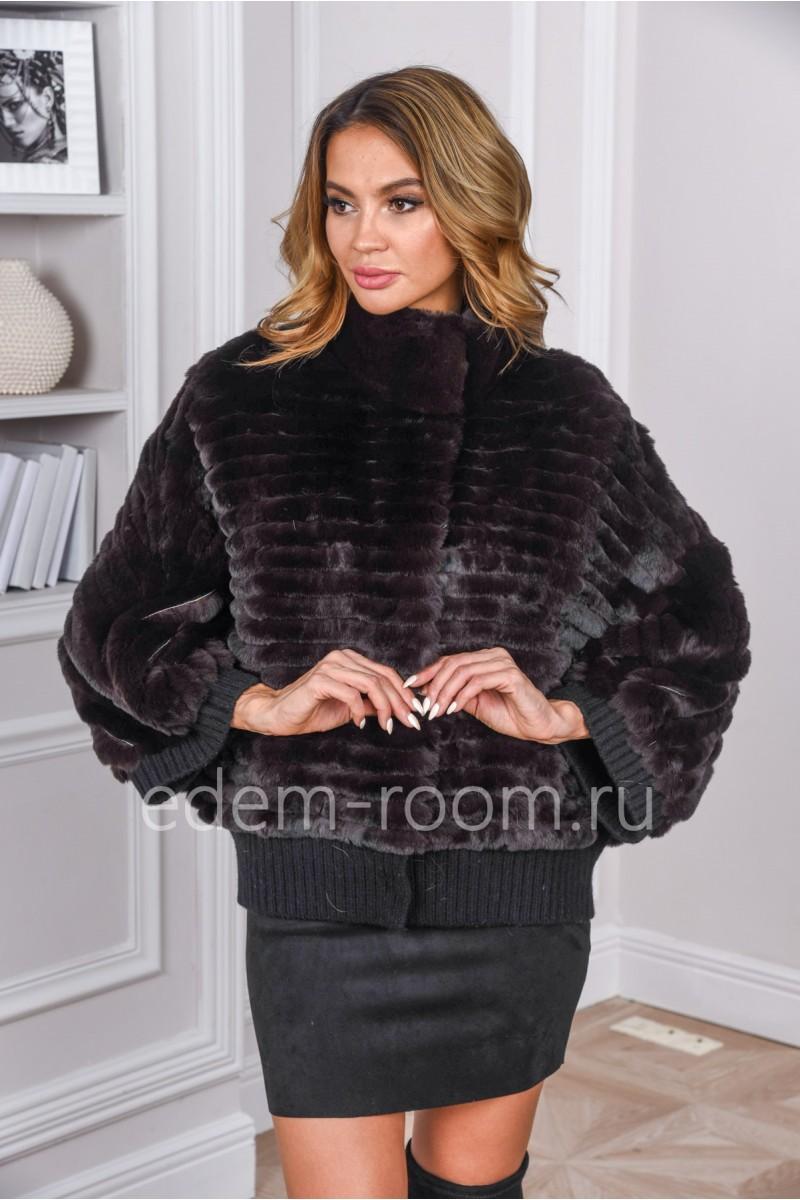 Меховая куртка из меха кролика