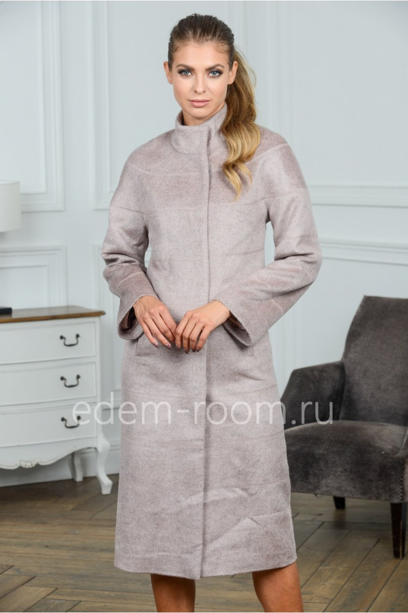 Кашемировое удлинённое пальто