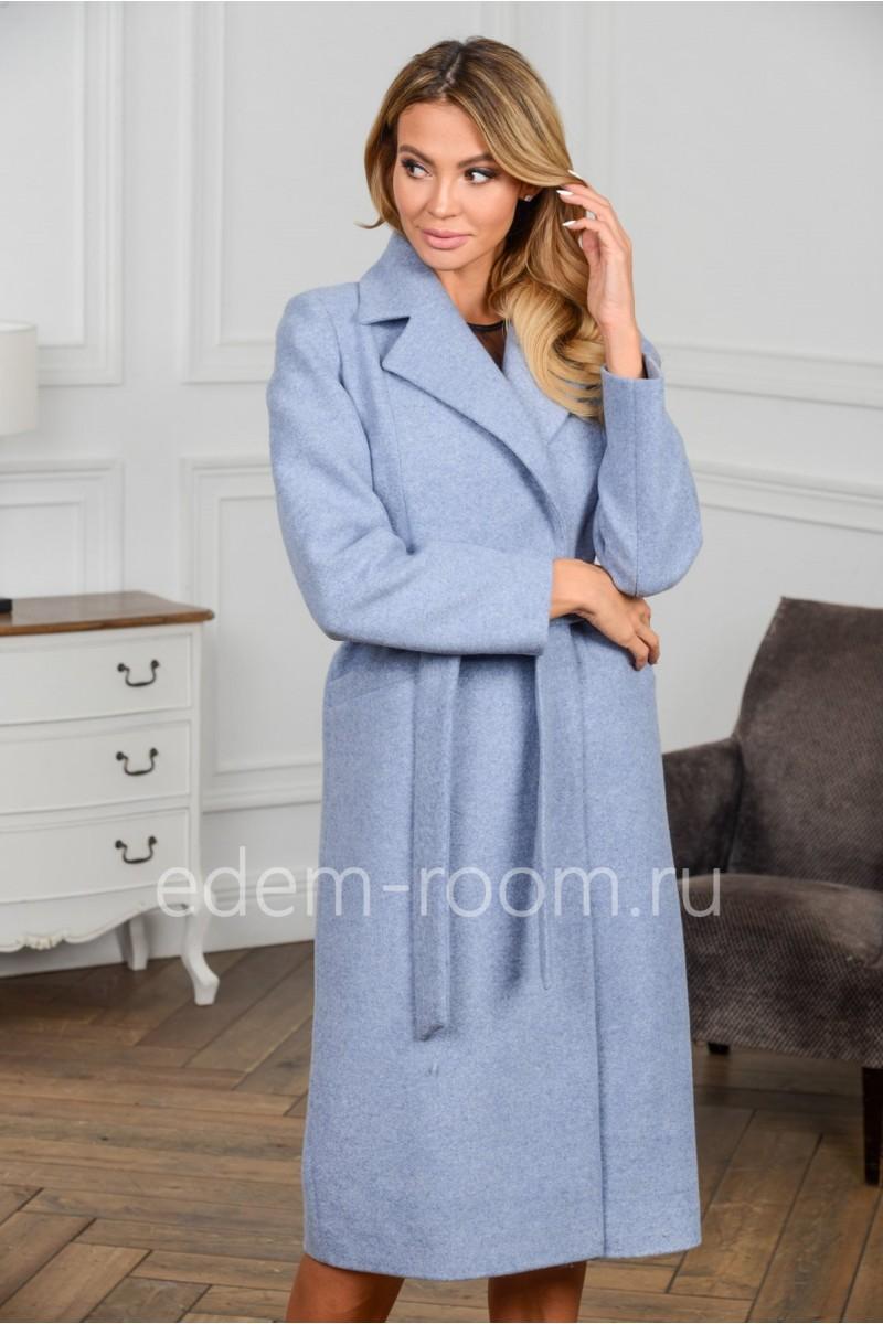 Пальто - халат под пояс