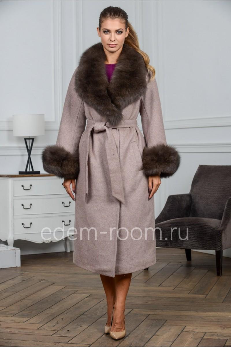 Шерстяное пальто из Альпака