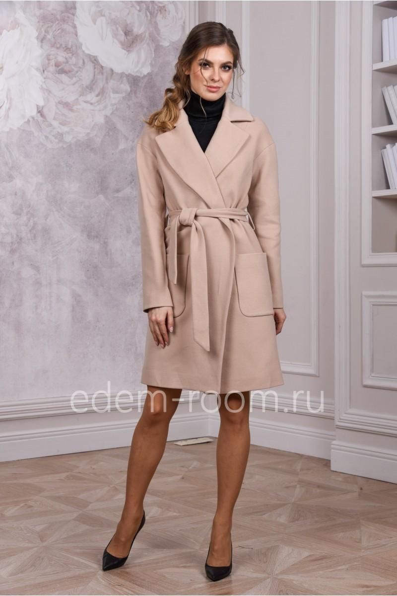Пальто из кашемира весенне - осеннее