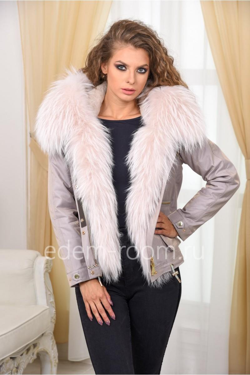 Парка - куртка с шикарным мехом