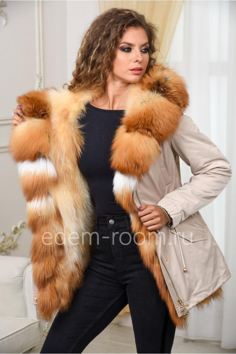 Меховая парка - куртка на еноте