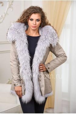Модная меховая парка - куртка