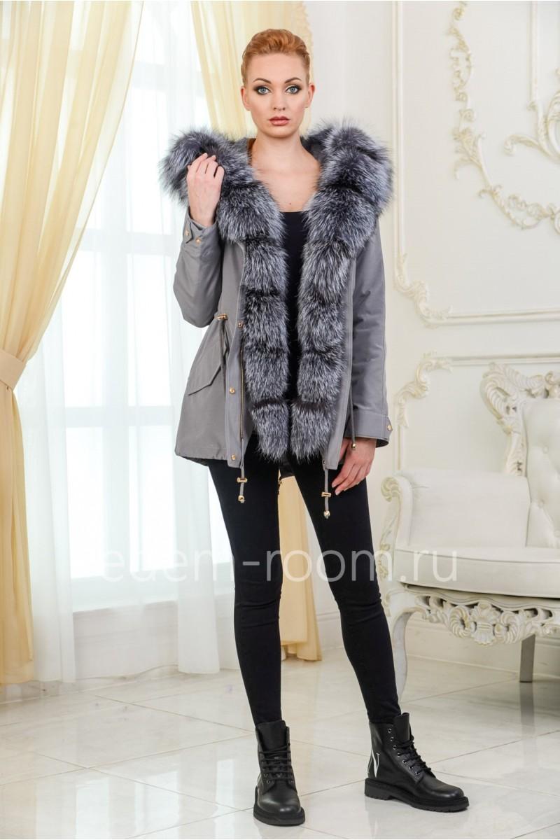 Женская куртка - парка с мехом