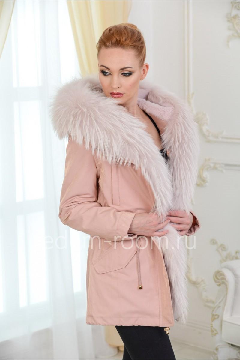 Зимняя парка - куртка с меховым капюшоном