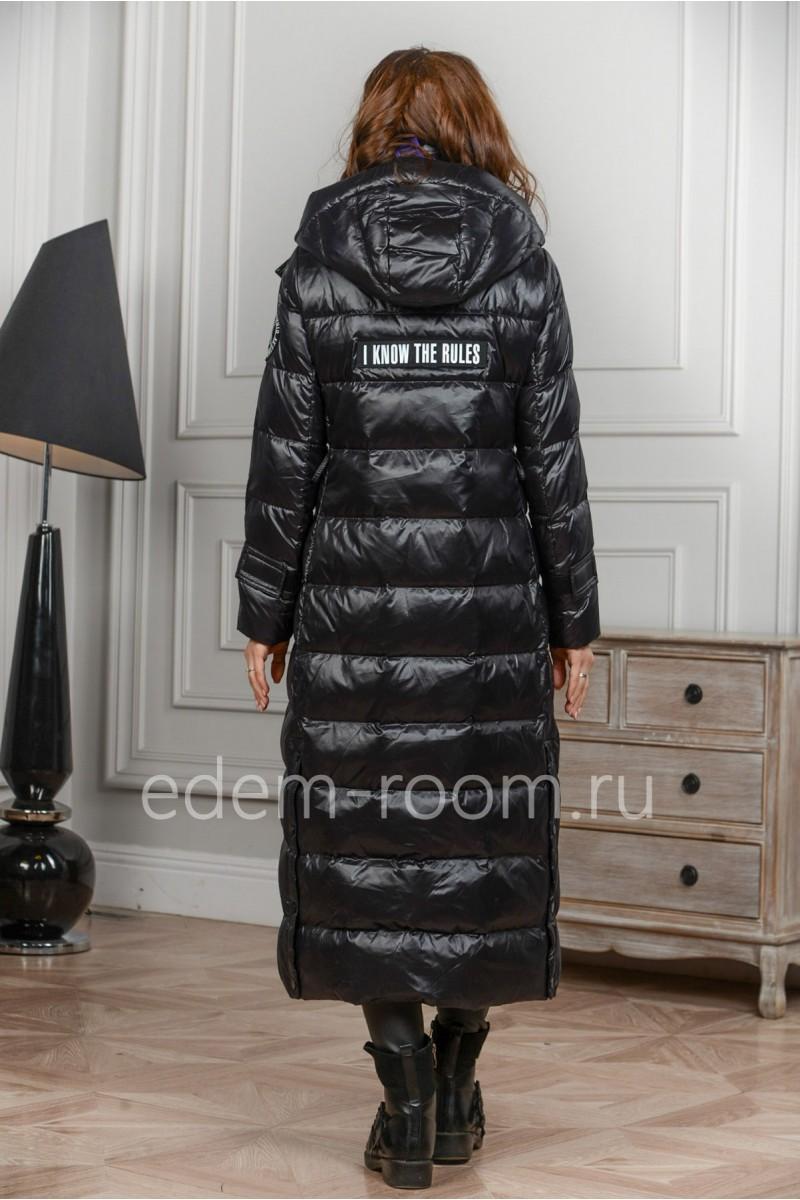 Удлинённое пальто - пуховик
