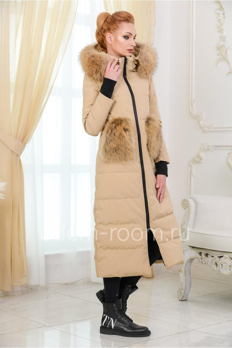 Женский пуховик - пальто