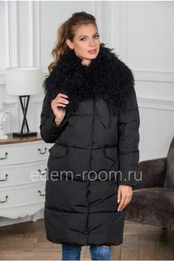 Куртка - пуховик с меховым воротником