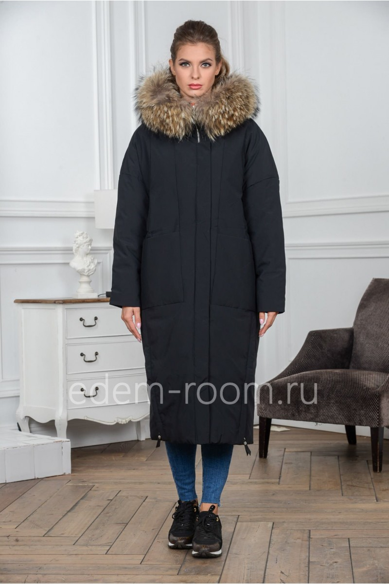 Утеплённое пуховое пальто