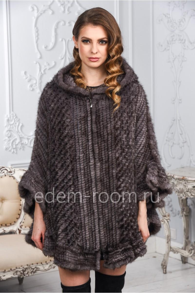 Вязаное пончо из вязки