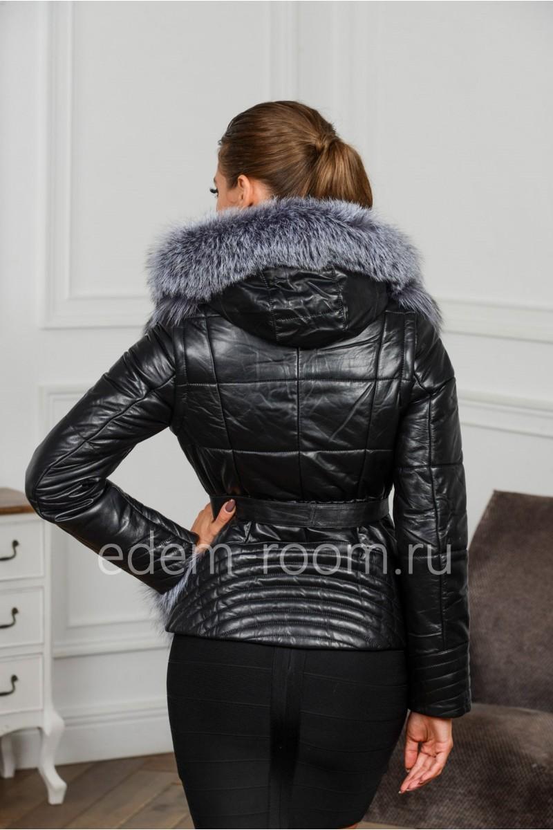 Шикарная меховая кожаная куртка